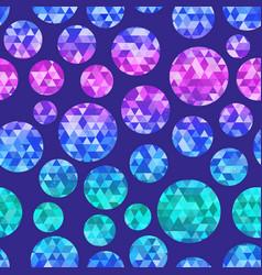 diamond circle seamless pattern vector image