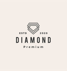 diamond hipster vintage logo icon vector image