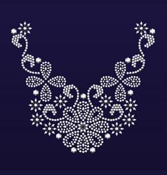 diamond jewelry necklace vector image