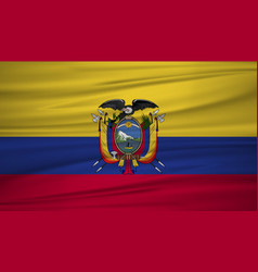 ecuador flag flag of ecuador blowig in the wind vector image
