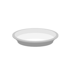 empty plate isolated large dish on white vector image