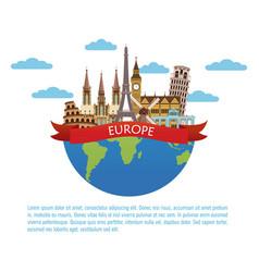Europe travel infographic vector