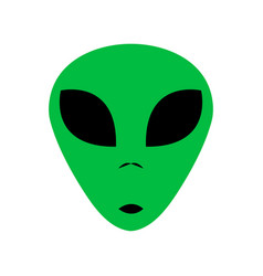 Funny alien head creature from another world vector
