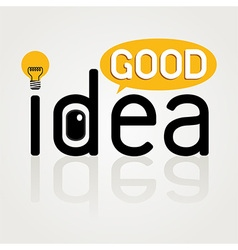 Good idea vector image