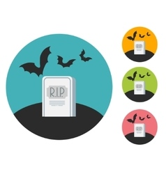 Grave flat vector