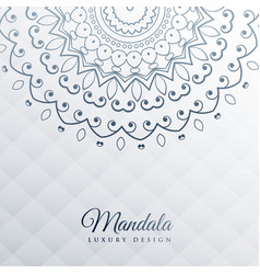 gray background with mandala decoration vector image
