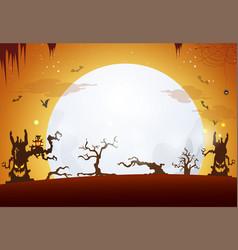 Halloween background design happy halloween day vector