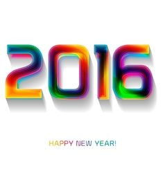 Happy new year 2016 celebration background banner vector image