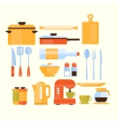 Kitchen Equipment Collection Of Icons vector image vector image