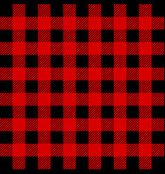 Lumberjack buffalo plaid seamless pattern red and vector