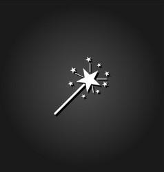 magic wand icon flat vector image
