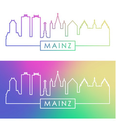 mainz skyline colorful linear style editable vector image