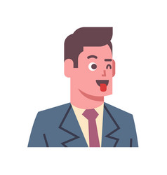 male show tongue emotion icon isolated avatar man vector image