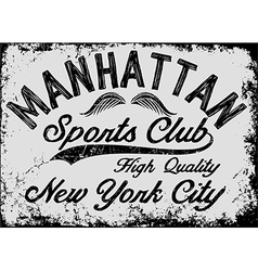 Manhattan New York athletic tee graphic vector