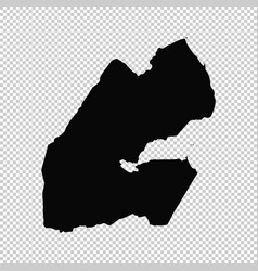 map djibouti isolated black vector image