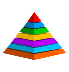 Multicolor pyramid vector