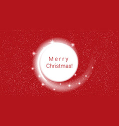new year red background white blizzard and stars vector image