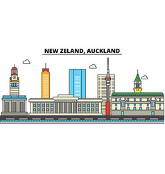 New zealand auckland city skyline architecture vector