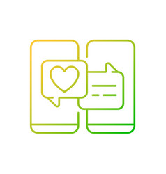 Online dating gradient linear icon vector