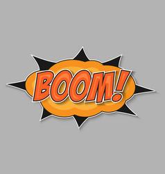 pop art bomb boom vector image