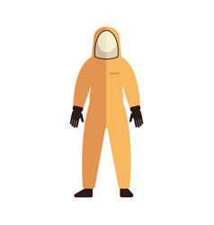 Protective uniform suit coverall flat icon vector