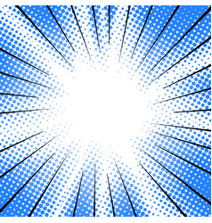 radial speed motion lines halftone effect comic vector image