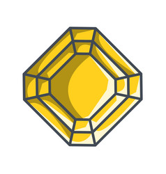 Radiant diamond in a flat style vector