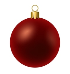 Red christmas ball isolated on white vector