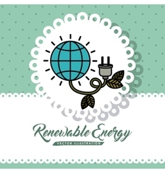 Renewable energy design vector
