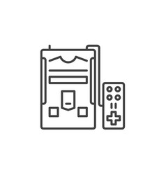retro gaming console concept linear icon vector image