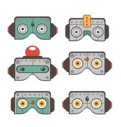 Robot masks collection vector
