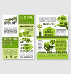 Save planet nature recycling concept poster vector
