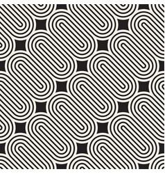 seamless pattern monochrome bold round stripes vector image