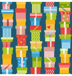 Seamless pattern with presents vector image
