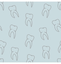 Seamless teeth pattern on blue background vector