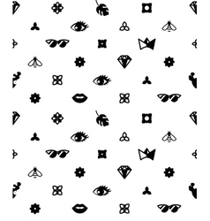 Seamless trendy pattern with fashion elements vector image