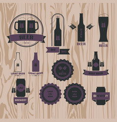 set for beer vector image