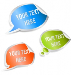 set speech bubble stickers vector image