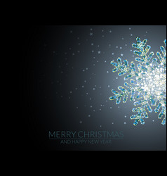 shining snowflake background vector image