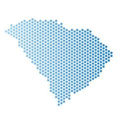South carolina state map hexagon scheme vector