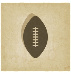 Sport football logo old background vector