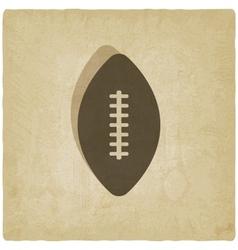 Sport football logo old background vector