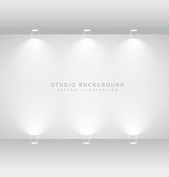 Studio gallery wall vector