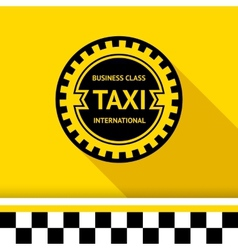 Taxi badge 16 vector