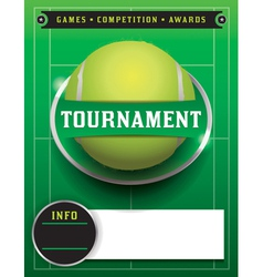 Tennis Tournament Template vector image