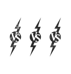vs versus icon sport match challenge battle vector image