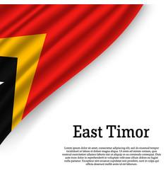 waving flag of east timor vector image