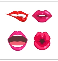 Woman lips vector image