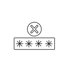 Wrong password login icon vector