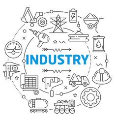 industry linear vector image